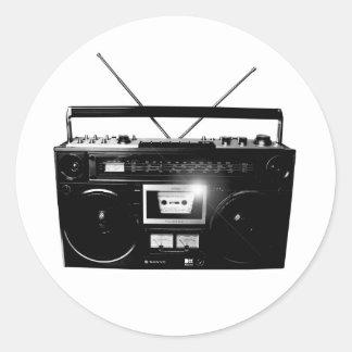 Dadawan Ghettoblaster boombox 1980 Round Sticker