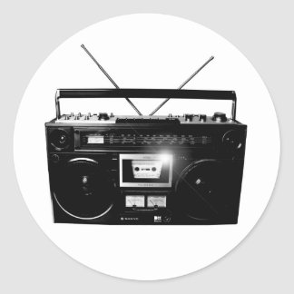Dadawan Ghettoblaster boombox 1980 Round Stickers