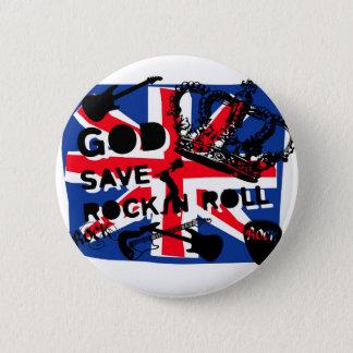 Dadawan God save Rock'n'Roll 6 Cm Round Badge