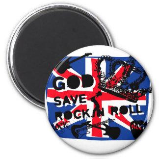 Dadawan God save Rock'n'Roll 6 Cm Round Magnet