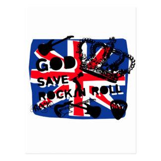 Dadawan God save Rock'n'Roll Postcard