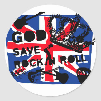 Dadawan God save Rock'n'Roll Round Sticker