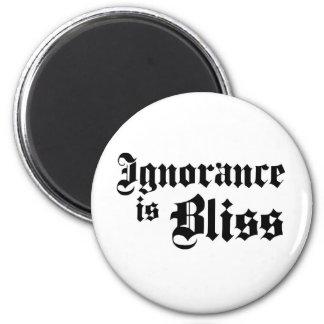 Dadawan Ignorance is bliss 6 Cm Round Magnet