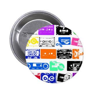 Dadawan K7 tapes vintage colors 6 Cm Round Badge