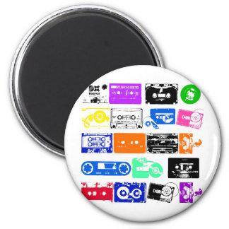 Dadawan K7 tapes vintage colors 6 Cm Round Magnet