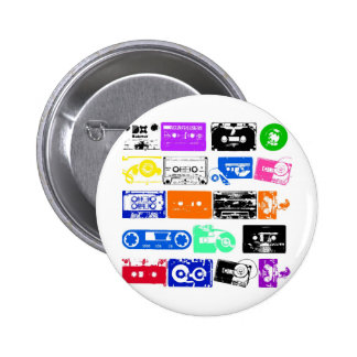 Dadawan K7 tapes vintage colors Pinback Buttons