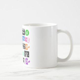 Dadawan K7 tapes vintage colors Basic White Mug
