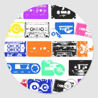 Dadawan K7 tapes vintage colors Classic Round Sticker