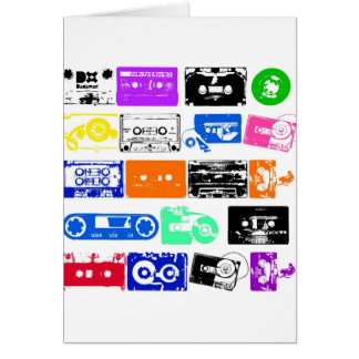 Dadawan K7 tapes vintage colors Greeting Card