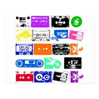 Dadawan K7 tapes vintage colors Postcard