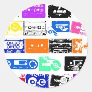 Dadawan K7 tapes vintage colors Round Sticker