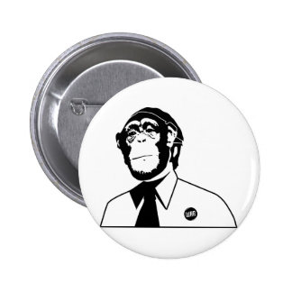 Dadawan monkey business 6 cm round badge