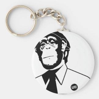 Dadawan monkey business basic round button key ring