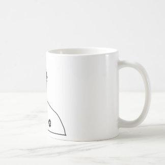 Dadawan monkey business basic white mug
