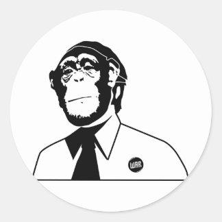 Dadawan monkey business round sticker
