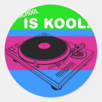 Dadawan Old school is kool  vynil deck Round Sticker