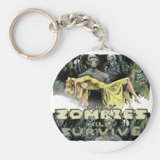 Dadawan Only zombies will survive Basic Round Button Key Ring