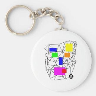 dadawan-shout basic round button key ring