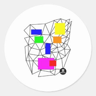 dadawan-shout round sticker