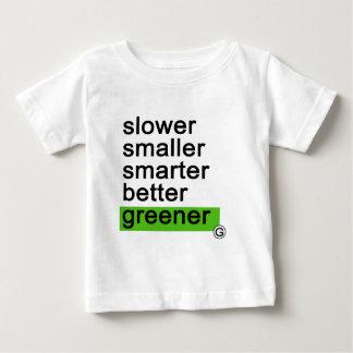 Dadawan Slower smaller smarter better greener Baby T-Shirt