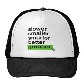 Dadawan Slower smaller smarter better greener Mesh Hat