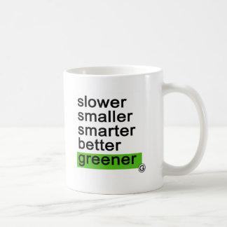 Dadawan Slower smaller smarter better greener Mug