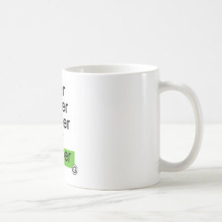 Dadawan Slower smaller smarter better greener Coffee Mug