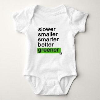 Dadawan Slower smaller smarter better greener Tshirts