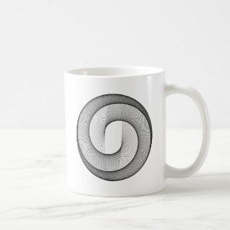 Dadawan sphere circle wire basic white mug