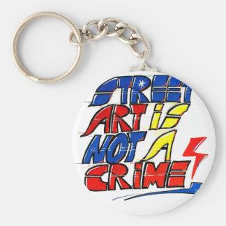 Dadawan Street art is not a crime Basic Round Button Key Ring