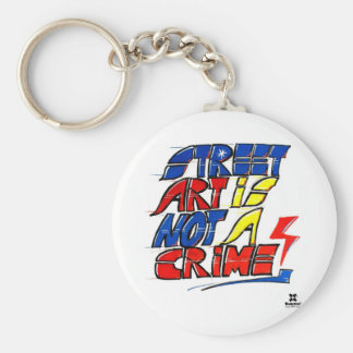 Dadawan Street art is not a crime Basic Round Button Key Ring