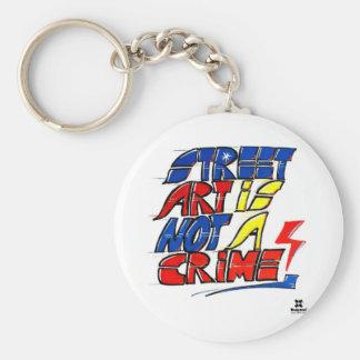 Dadawan Street art is not a crime Keychain