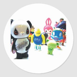 Dadawan toys are forever round stickers