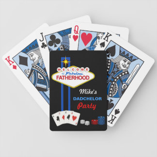 Dadchelor Party Personalized Playing Cards