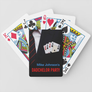 Dadchelor Poker Party Personalized Playing Cards
