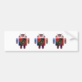Daddy and Baby Android  -  Art101 by Navin Bumper Sticker