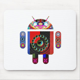 Daddy and Baby Android  -  Art101 by Navin Mouse Pad