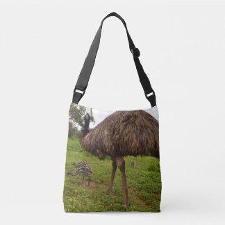 Daddy_And_Baby_Emus_Full_Print_Cross_Body_Bag. Crossbody Bag