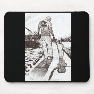 Daddy and baby mouse pad