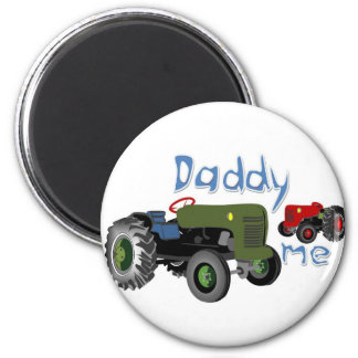 Daddy and Me Tractors 6 Cm Round Magnet