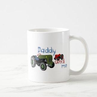 Daddy and Me Tractors Basic White Mug