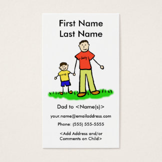 Daddy and Son Custom Photo Calling Playdate Cards
