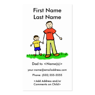 Daddy and Son Custom Photo Calling Playdate Cards Double-Sided Standard Business Cards (Pack Of 100)