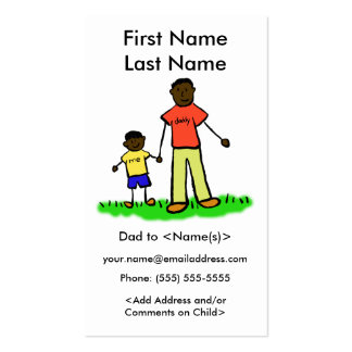 Daddy and Son Custom Photo Calling Playdate Cards Pack Of Standard Business Cards