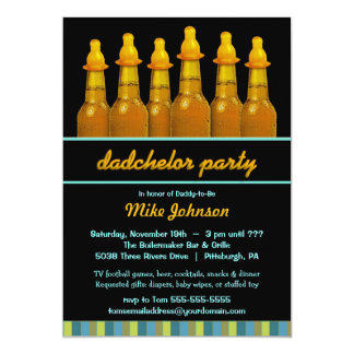 Daddy Baby Shower - Dadchelor Diaper Party Invites