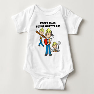 Daddy Construction Foreman Baby Bodysuit