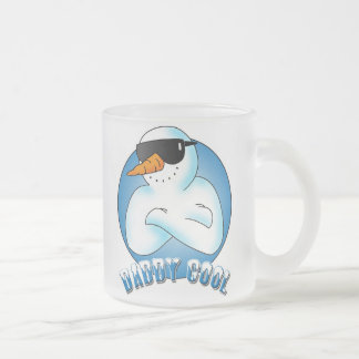 Daddy Cool Frosted Glass Coffee Mug