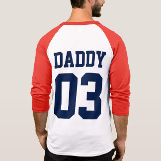 Daddy Custom Number Father's Day Sports Jersey Tshirt