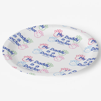 Daddy Doctor 9 Inch Paper Plate