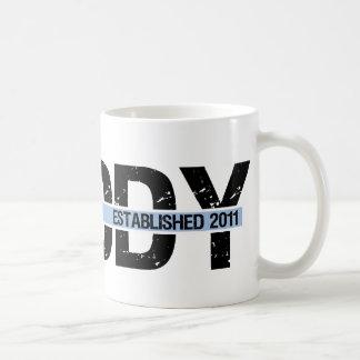 daddy est 2011 with banner2 coffee mug